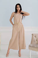 Комбинезон женский летний широкие штаны комбез костюмка размер:42,44,46