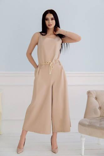 afe0aa563eec Комбинезон женский летний широкие штаны комбез костюмка размер:42,44,46