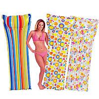 Пляжный надувной матрас Intex 59711. 3 вида, 183-69 см
