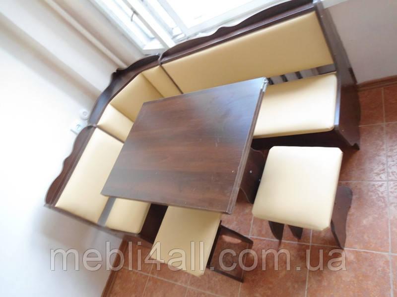 Кухонный уголок Лорд+стол раскладной + 2 табурета