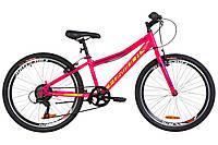 """Горно-подростковый велосипед FORMULA FOREST RIGID VBR 24"""" (малиновый с салатным)"""