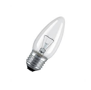 Лампа накаливания Свеча 40 Вт Е 27 прозрачная