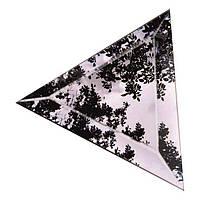 """Плитка зеркальная """"серебро"""" треугольник 212мм фацет 15мм"""