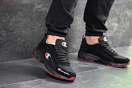 Мужские кроссовки черные с красным Champion 7293