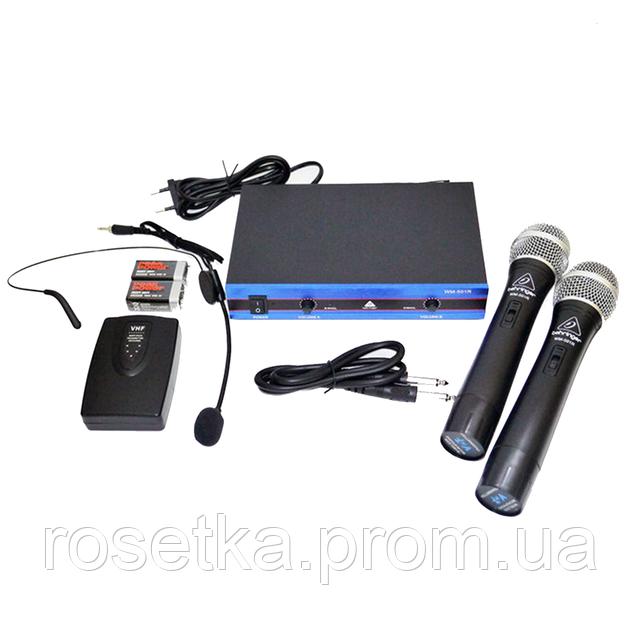 Радиосистема Behringer WM-501R с гарнитурой база + 2 радиомикрофона Беринжер