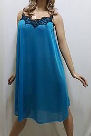 Женская ночная сорочка из гипюра, размер 56-60