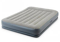Надувная кровать-матрас Intex 64118 , встроенный электронасос. Двухспальная 152 х 203 х 30