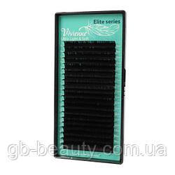 Черные ресницы серия Elit софт растяжка 0,1 D 6-14 (20 лент)