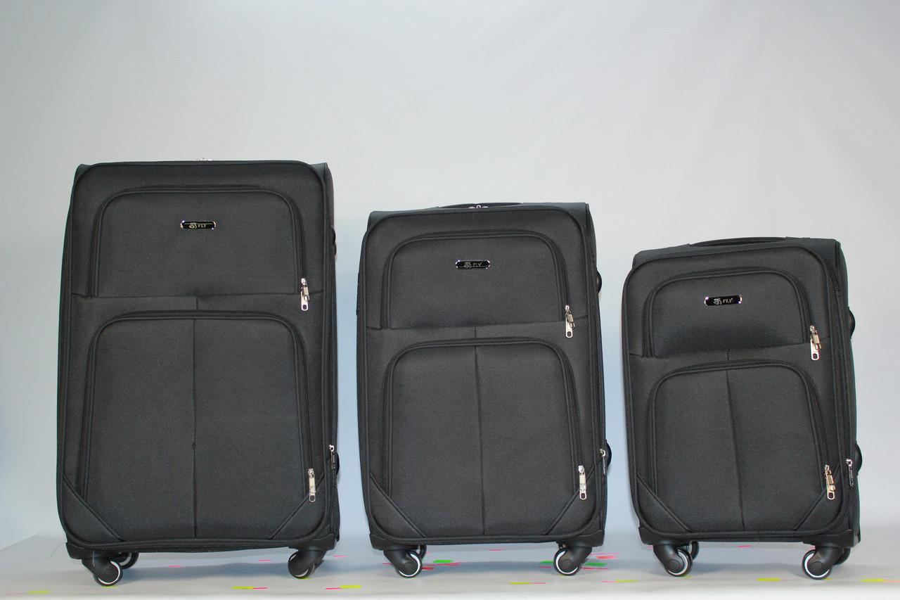 Комплект тканевых чемоданов FLY 214 на 4 колесах