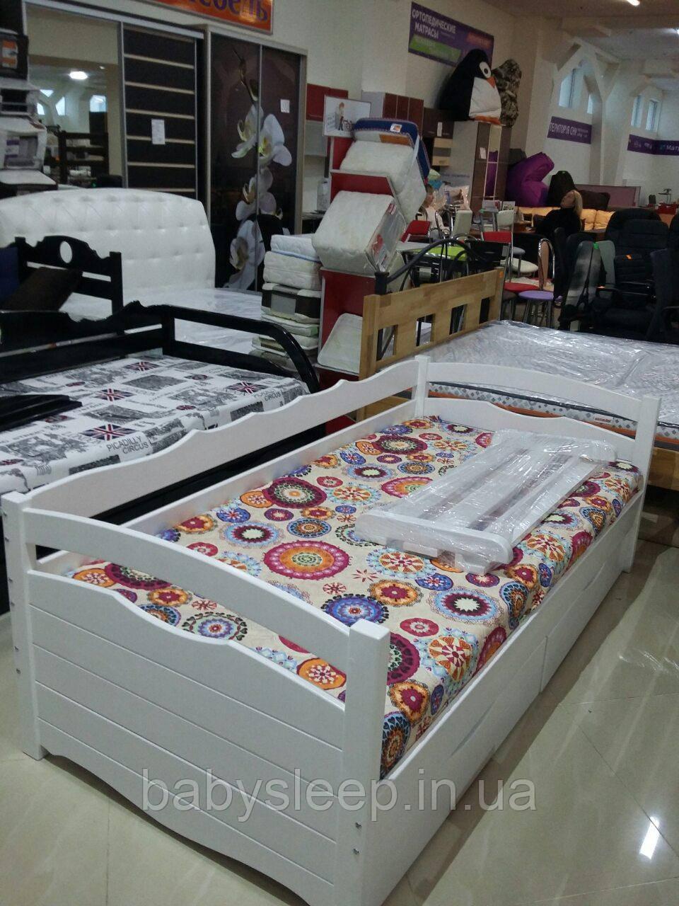 """Кровать подростковая """"Алина"""" цвет - белая."""