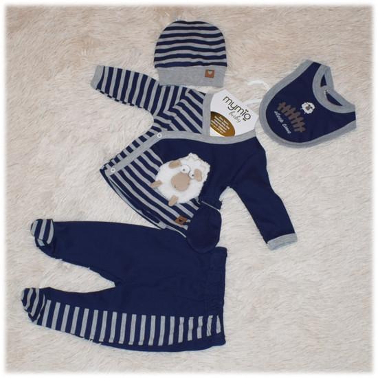 Комплект для новорожденных на выписку  (распашонка, штанишки, шапочка, слюнявчик, царапки) размер 56 62