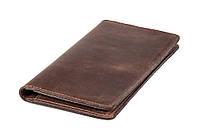 Мужской кожаный бумажник VIP (антик темный шоколад)