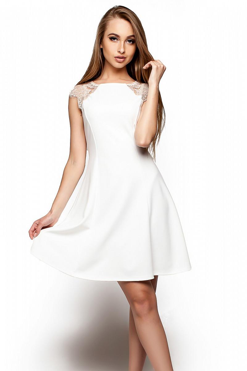 5ac87da2ec54cd2 S, M, L / Короткое Коктейльное Платье Sally, Белый — в Категории ...