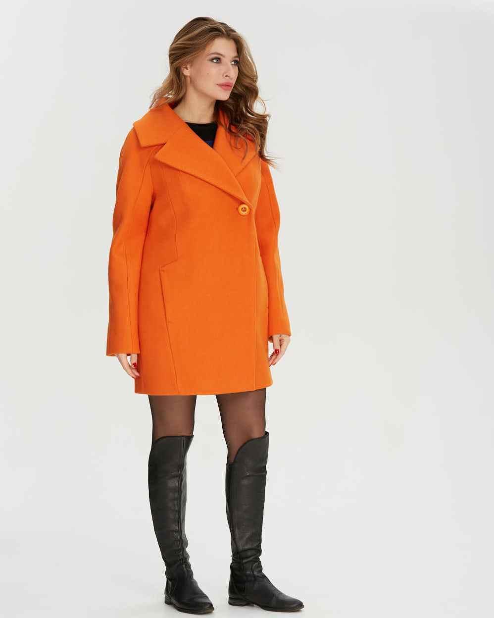 Пальто короткое двубортное  1280