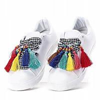 Молодёжные стильные женские кеды на шнуровке