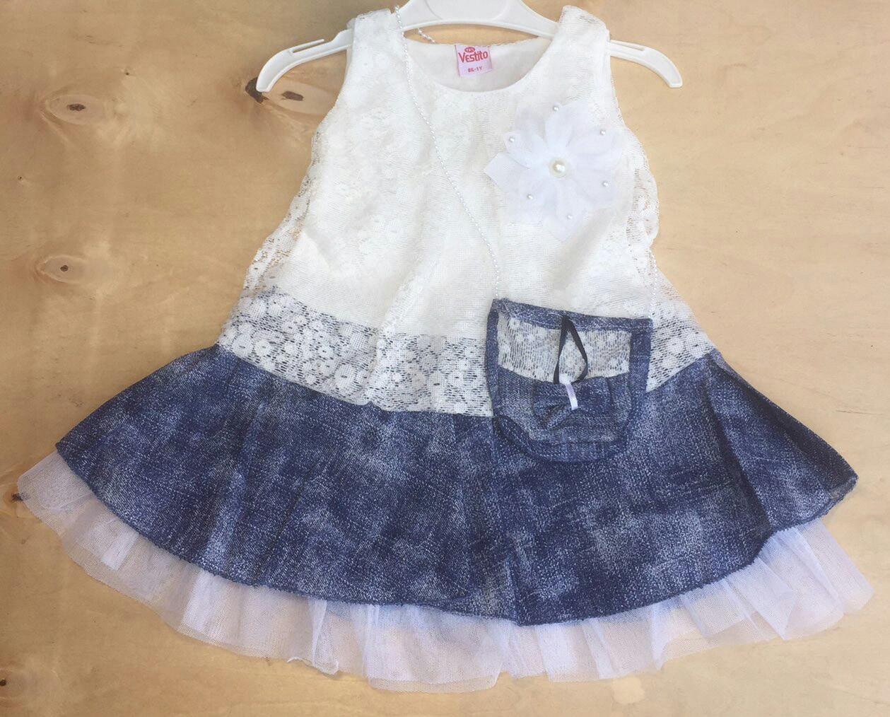 Детское платье с сумочкой для девочек 1-3 года