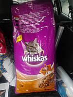 Вискас сухой корм для кошек Курица 14кг