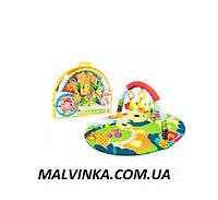 Коврик для малышей арт 002   1 дуга, подвески,сумка, 54-42-7 см.
