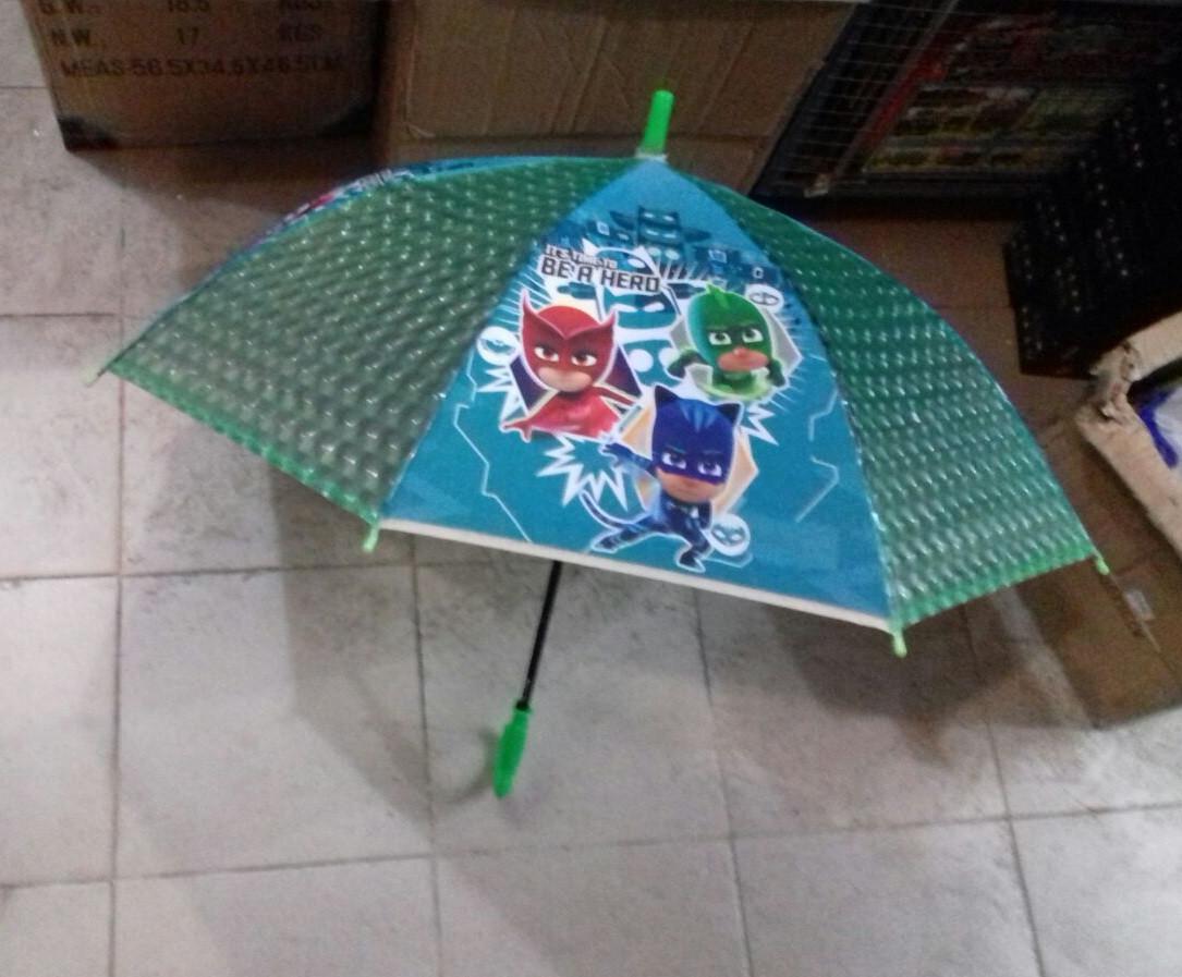 Детский прозрачный зонт трость для мальчиков с принтом мультфильма Маски ТОП Качество