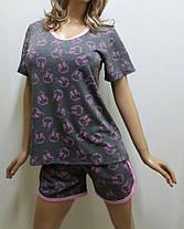 Пижама шорты с футболкой, домашний костюм, размеры от 44 до 54, Харьков, фото 2