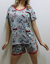 Пижама шорты с футболкой, домашний костюм, размеры от 44 до 54, Харьков, фото 3