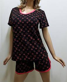 Пижама шорты с футболкой, домашний костюм, размеры от 44 до 54, Харьков