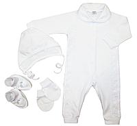 Комплект для новорожденного нарядный белый с кружевом