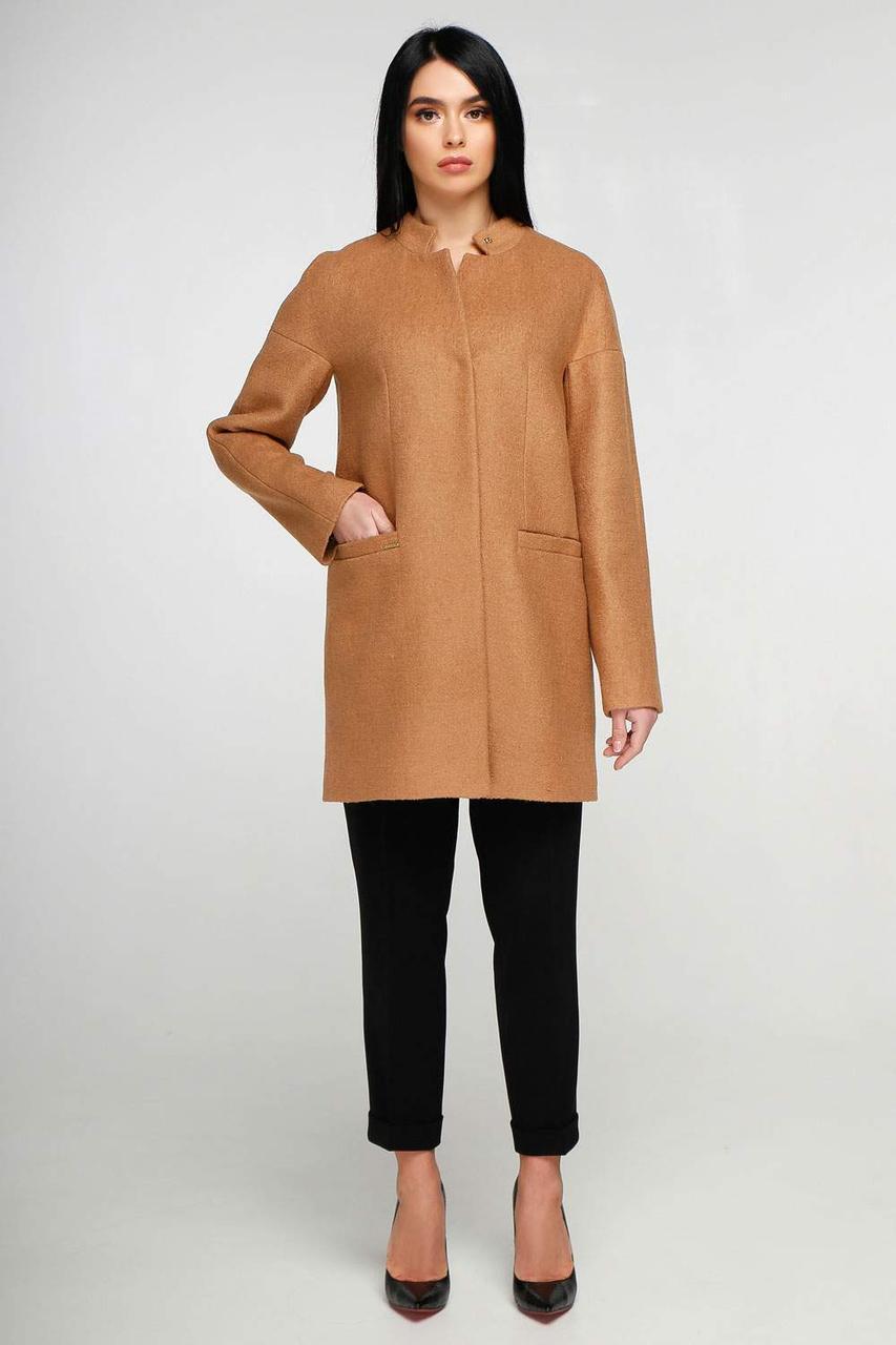 Женское демисезонное пальто В-997 Букле р-ры 44-62