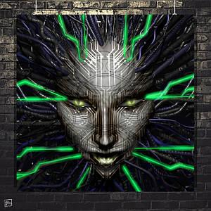 Постер SHODAN, System Shock 2. Размер 60x60см (A1). Глянцевая бумага