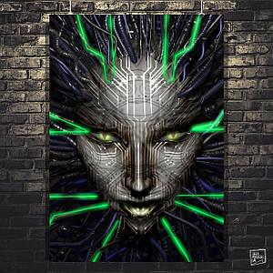 Постер SHODAN, System Shock 2. Размер 60x43см (A2). Глянцевая бумага