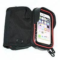 """Велосипедная сумка на раму для инструмента и смартфона 5.5"""" (GA-75) водонепроницаемый материал B-SOUL"""