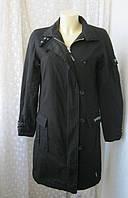 Пальто женское черное миди хлопок утепленное бренд Golddigga р.46-48