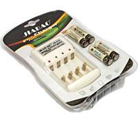 Набор Зарядное 4х канальное устройство с 4 аккумуляторами АА 4500ма JIABAO JB-212, фото 1