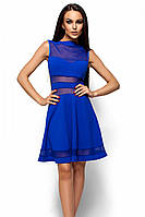 (M   44-46) Коктейльне синє плаття з сіточкою Martin f6e8aabedeeba