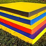 Мат спортивно-гімнастичний 100*100*9 см, фото 3