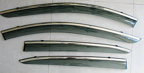 Mazda 3  ветровики дефлекторы окон ASP с молдингом нержавеющей стали / sunvisors