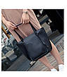 Жіноча темно-сіра сумка. Набір 4в1 + маленька сумочка + гаманець, фото 5