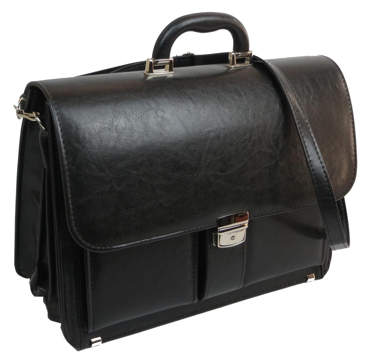 Большой мужской портфель из кожзаменителя TOMSKOR 81584