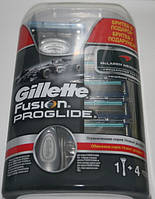 Gillette Fusion Proglide (джиллет фьюжн проглайд) 5 штук + станок в подарок оригинал