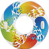 Intex 58202 надувной круг с ручками 119 см