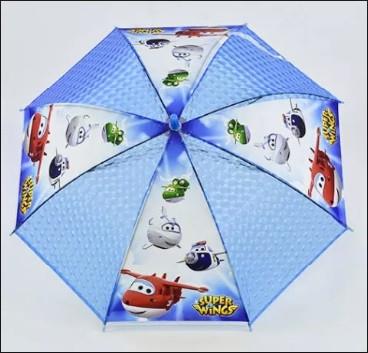 Детский прозрачный зонт трость для мальчиков Супер Крылья ТОП Качество