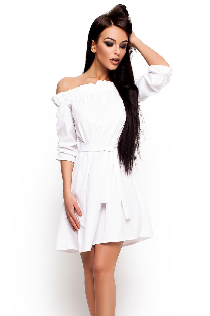 8341eae632cec2 S-M) Жіноче біле плаття-міні Milana - купити в інтернет магазині ...