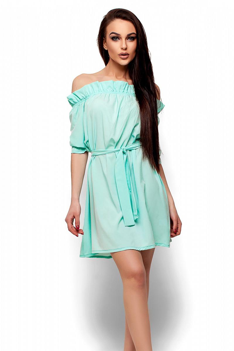 (S-M) Жіноче ментолове плаття-міні Milana