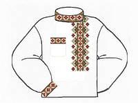 Мужская сорочка под вышивку бисером или нитками