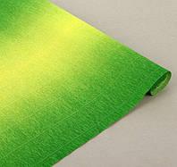 Креп-бумага Cartotecnica rossi градиент зеленый 600/5 (2,5 м; 180 г, Италия)