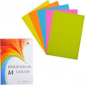 Бумага для ксерокса А4 5 цветов, НЕОН 250 листов 80 г/м²                 N5/250