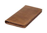 Мужской кожаный бумажник VIP (антик рыжий)