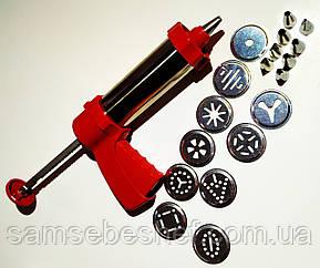 Кондитерський пістолет-екструдер з насадками для крему і тесту GA Династія 18039