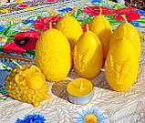 """Пасхальная восковая свеча """"Яйцо с кружевами"""" из натурального пчелиного воска, фото 4"""