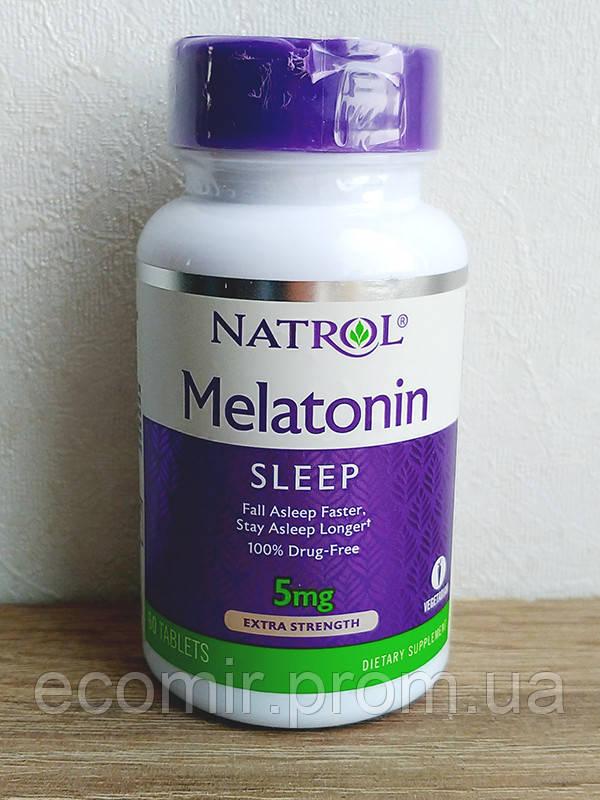 Мелатонин, Экстра сила, Natrol (5 мг / 60 табл.)
